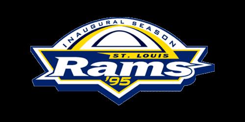1995 St. Louis Rams Inaugural NFL Season logo
