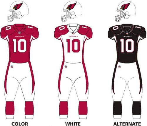 Arizona Cardinals uniforms