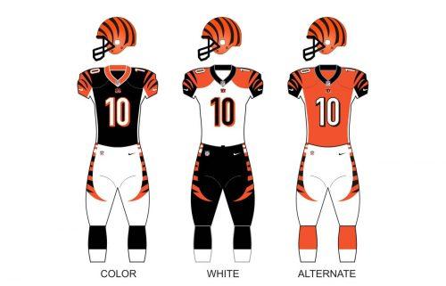 Cincinnati bengals uniforms
