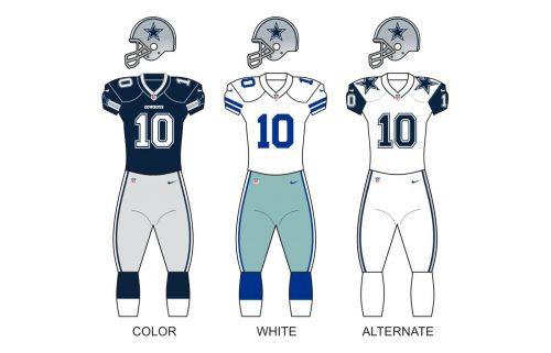 Dallas Cowboys uniforms
