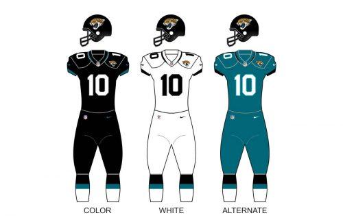 Jacksonville Jaguars uniforms