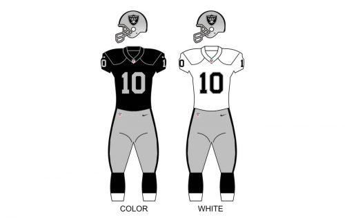 Las Vegas Raiders uniforms