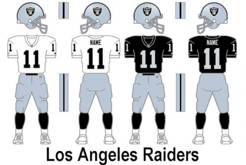Los Angeles Raiders Uniform