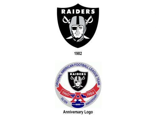 Los Angeles Raiders logo history