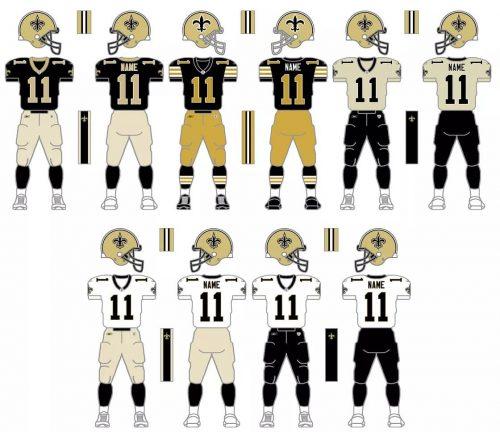 New Orleans Saints Uniform