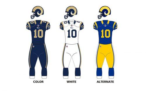 St. Louis Rams uniforms