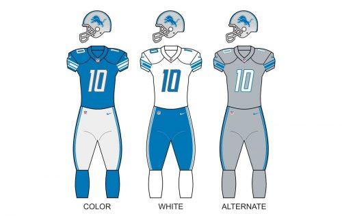 Detroit lions uniforms