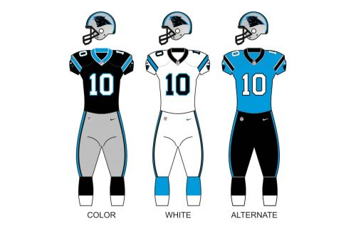 Carolina panthers uniforms