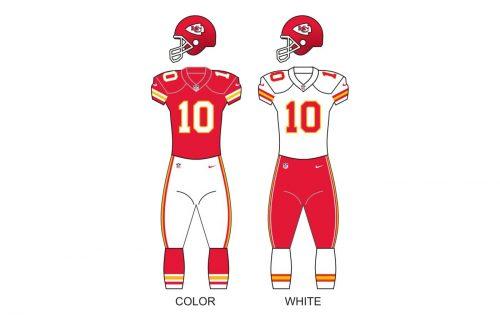 Kansas City Chiefs uniforms