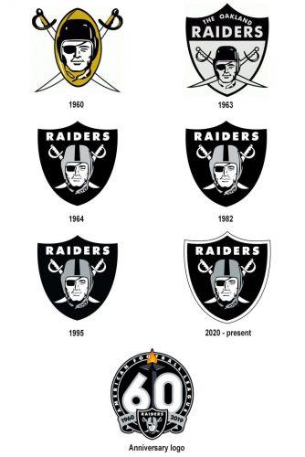 Las Vegas Raiders logo history