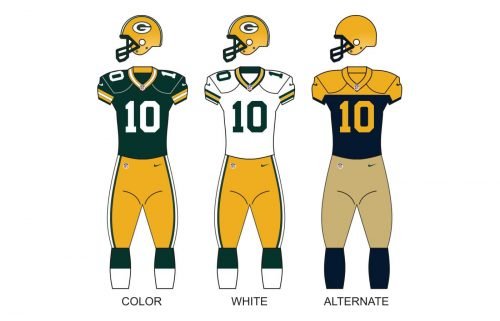 Green bay packers uniforms