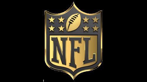 NFL Logo golden 3d